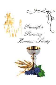 Pamiątka Pierwszej Komunii Świętej papież i kiel.3