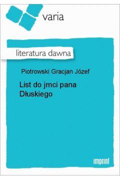 List do jmci pana Dłuskiego