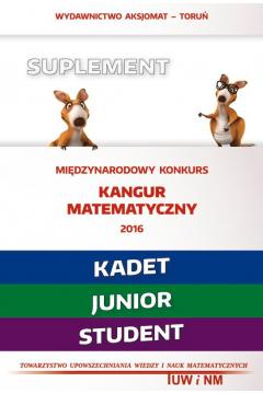 Kangur7 Matematyka z w. kangurem 2016 (Kadet/Junior/Student)