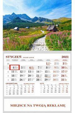 Kalendarz 2021 Ścienny Jednodzielny Hala Gąsieni.