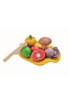 Warzywa z deską do krojenia zabawki drewniane
