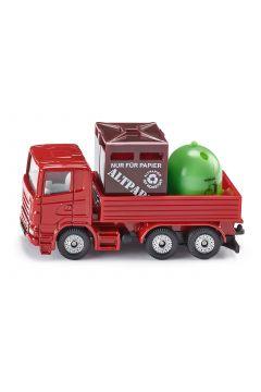 Siku 08. Ciężarówka z pojemnikami na odpady