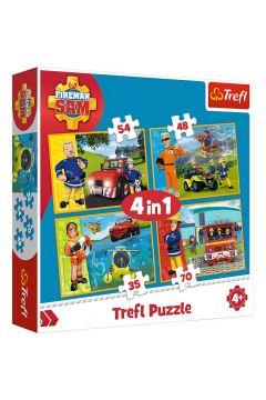 Puzzle 4w1 Strażak Sam Na ratunek TREFL