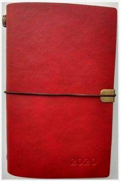 Kalendarz 2020 luksusowy z gumką  b6 czerwony tns 36405
