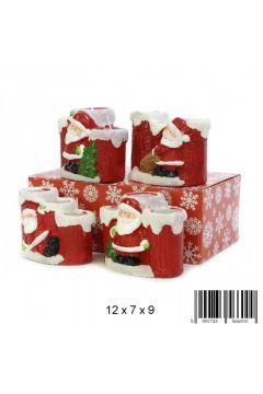 Świeca dekoracyjna ceramiczna Mikołaj 0540F