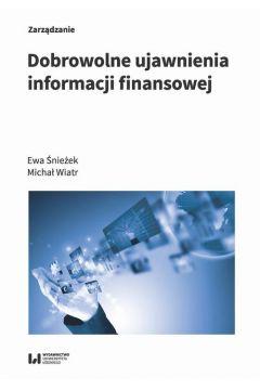 Dobrowolne ujawnienia informacji finansowej