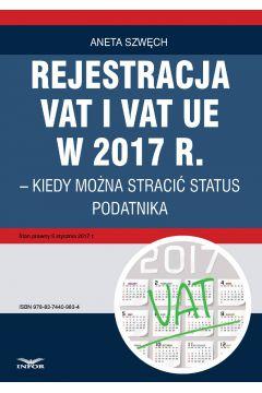 REJESTRACJA VAT I VAT UE kiedy można utracić status podatnika