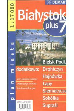 Białystok plus 7 1:17 000 plan miasta