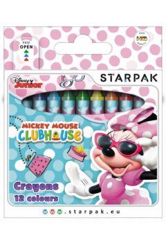 Kredki woskowe 12 kolorów Minnie