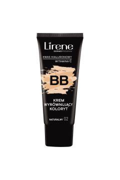 LIRENE_BB krem wyrównujący koloryt z kwasem hialuronowym i witaminą C 02 Naturalny