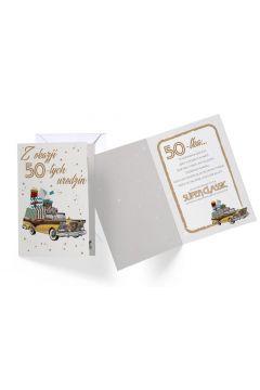 Karnet B6 DK-640 Urodziny 50 męskie