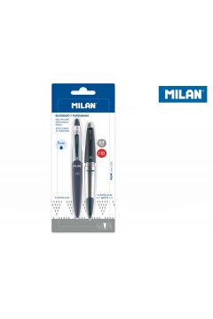 Długopis + ołówek mechaniczny Capsule Silver MILAN