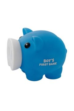 Skarbonka Świnka Boy's First Bank niebieska MAPED
