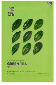 Pure Essence Mask Sheet Green Tea przeciwzapalna maseczka z ekstarktem z zielonej herbaty