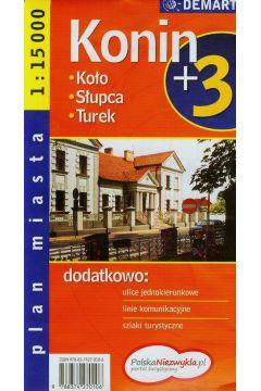 Plan miasta Konin +3 1:15 000