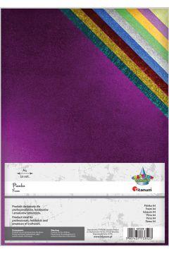 Pianka metalizowana 20x30cm 10 kolorów TITANUM CRAFT-FUN SERIES