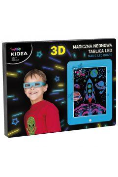 Magiczna neonowa tablica 3D led Kidea