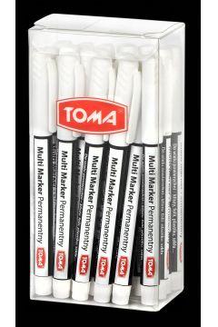 Multi Marker permanentny biały (20szt) TOMA