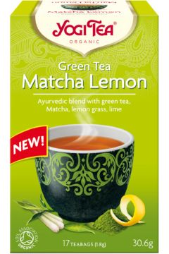 Herbata zielona z cytryną i matchą (green tea matcha lemon)