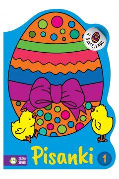 Wielkanocne kolorowanki. Pisanki 1