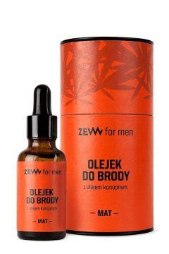 ZEW FOR MEN_Olejek do brody z olejem konopnym Mat