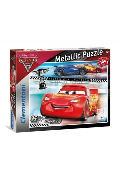 Puzzle SuperColor Metallic Cars 3 104 elementy