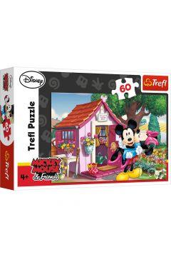 Puzzle 60 Miki i Minnie w ogrodzie TREFL