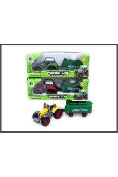 Traktorek z przyczepą 12cm w pud. p12 HIPO