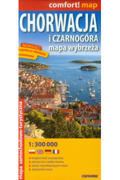 Comfort!map Chorwacja i Czarnogóra 1:300 000 mapa