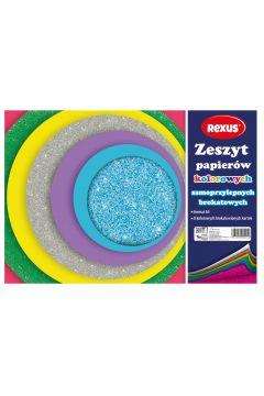 Papier kolorowy samoprzylepny A4/8K brokat 609294 BENIAMIN