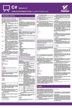 Tablice informatyczne. C#