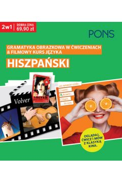 Gramatyka obrazkowa/filmowy kurs. Hiszpański 2w1