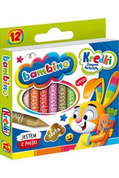 Kredki świecowe 12 kolorów bls BAMBINO