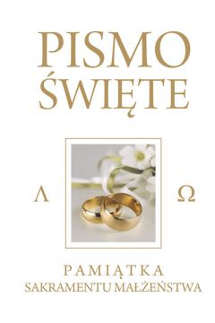 Pismo Święte Białe - Pam. Sakr. Małżeństwa