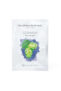 Germany Sebum Control Biocellulose Facial Mask regulująca sebum maseczka z biocelulozy Hop & Beer Yeast