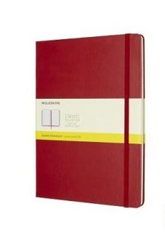 Notes Classic 19x25 tw. kratka - czerwony MOLESKIN