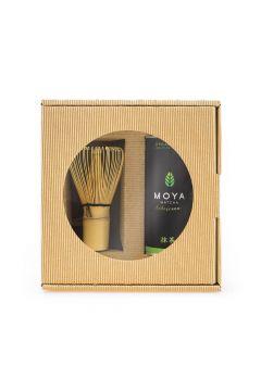 Zestaw herbata zielona matcha w proszku codzienna + miotełka bambusowa chasen