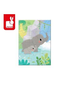 Mini puzzle do kolekcjonowania Zwierzątka, opakowanie zbiorcze 12 sztuk (2 x 6 wzorów)