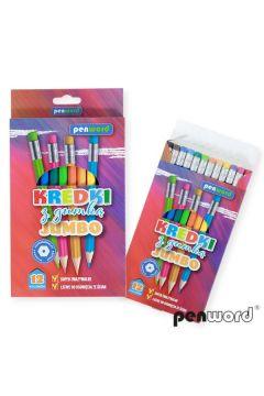 Kredki ołówkowe Jumbo z gumką
