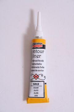 Farby konturowe w tubie 20 ml złoty PENTART 2461