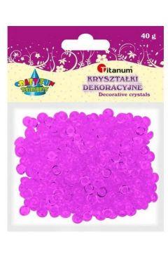 Koraliki plastikowe połówka kuli fioletowe 40g