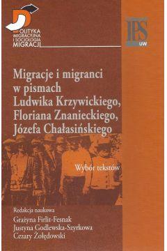 Migracje i migranci w pismach Ludwika Krzywickiego, Flioriana Znanieckiego, Józefa Chałasińskiego