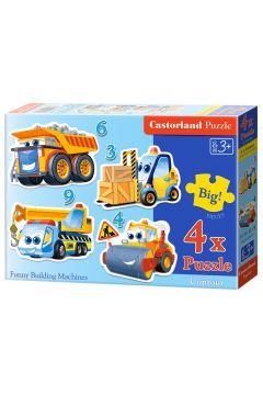 Puzzle x 4 Kontur - Funny Building Machines CASTOR