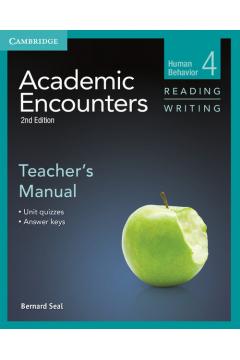 Academic Encounters 4 Teacher's Manual Reading Writing