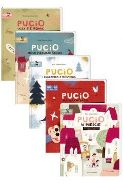 Pakiet: Pucio uczy się mówić, Pucio mówi pierwsze słowa, Pucio i ćwiczenia z mówienia, czyli nowe słowa i zdania, Pucio na wakacjach, Pucio w mieście
