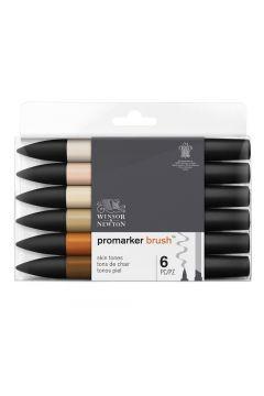 Brushmarker 6 skin tones