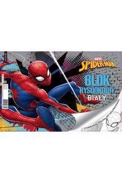 Blok rysunkowy A4/20K biały Spiderman