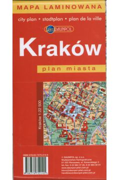 Kraków. Plan miasta w skali 1:22 500