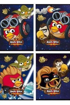 Zeszyt A5 16k. kratka laminowany Angry Birds