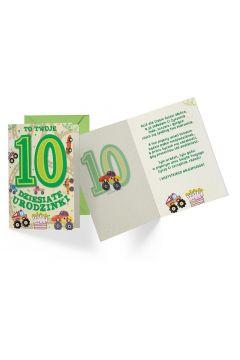 Karnet B6 PR-310 Urodziny 10